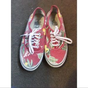 Vans tropical shoes size 7.5